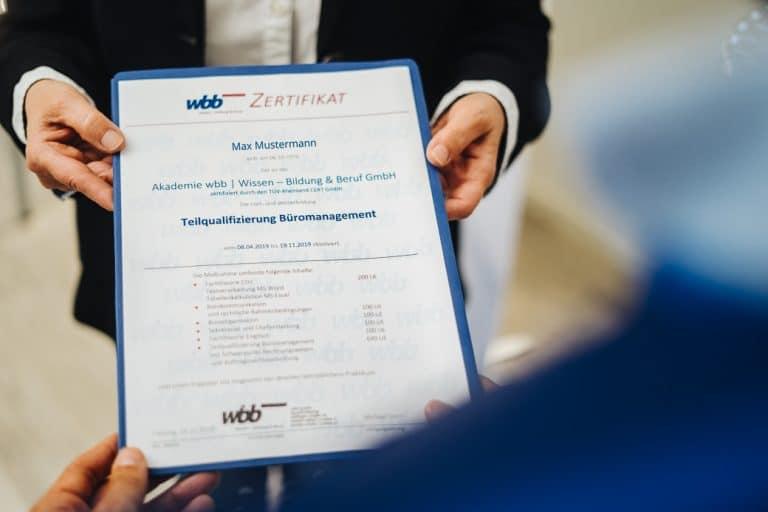 wbb Zeugnis Zertifikat